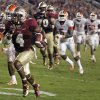 Photo -   Florida State running back Chris Thompson (4) dashes to a 24-yard touchdown during the fourth quarter of an NCAA college football game against Clemson on Saturday, Sept. 22, 2012, in Tallahassee, Fla. (AP Photo/Phil Sears)