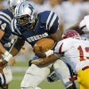 Edmond North\'s Michael Farmer runs past Putnam City North\'s Dylan Peevy for a touchdown during a high school football game at Wantland Stadium in Edmond, Okla., Friday, September 21, 2012. Photo by Bryan Terry, The Oklahoman