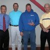 Russell Struck of Precision Heat and Air Conditioning was recognized by the City of Edmond with an Excellence Award last week at the first annual Building Excellence in Edmond Awards Breakfast. Pictured left to right are: Clay Coldiron, Director of Public Works; Ed Steiner, Building Services Director; Russell Strunk and Edmond City Manager Larry Stevens. Community Photo By: Claudia Deakins Submitted By: Claudia, Edmond