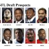 ** FOR USE AS DESIRED WITH NFL DRAFT STORIES ** FILE - In these university handouts and file photos top college football prospects for the 2009 NFL Draft are shown. They are: Clay Matthews, Rey Muauluga, Aaron Maybin, LeSean McCoy, Fili Moala, Eugene Monroe, William Moore, Knowshon Moreno, Shawn Nelson, Hakeem Nicks, Michael Oher and Brian Orakpo. (AP Photo) ** MAGS OUT. NO SALES, EDITORIAL USE ONLY ** ORG XMIT: NY157