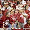 OU fans react after OU\'s 14-13 loss in the college football game between the Brigham Young University Cougars (BYU) and the University of Oklahoma Sooners (OU) at Cowboys Stadium in Arlington, Texas, Saturday, September 5, 2009. By Bryan Terry, The Oklahoman