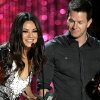 Photo -   Mila Kunis, left and Mark Wahlberg present the award for best on-screen dirtbag at the MTV Movie Awards on Sunday, June 3, 2012 in Los Angeles. (Photo by Matt Sayles/Invision/AP)
