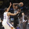 Oklahoma City\'s Kevin Martin (23) defends on Brooklyn Nets\' Gerald Wallace (45) during the NBA basketball game between the Oklahoma City Thunder and the Brooklyn Nets at the Chesapeake Energy Arena on Wednesday, Jan. 2, 2013, in Oklahoma City, Okla. Photo by Chris Landsberger, The Oklahoman