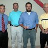 Billy Krepps of Trek Electric was recognized by the City of Edmond with an Excellence Award last week at the first annual Building Excellence in Edmond Breakfast. Pictured left to right are: Clay Coldiron, Public Works Director, Ed Steiner, Building Services Director, Mr. Krepps, and Edmond City Manager Larry Stevens. Community Photo By: Claudia Deakins Submitted By: Claudia, Edmond