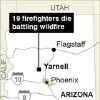 Photo - This graphic shows the location of Yarnell, Ariz., where 19 firefighters died battling a wildfire on June 30, 2013. (AP Photo)