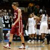OU\'s Carlee Roethlisberger (10) walks off the court after OU\'s loss in the women\'s college basketball Big 12 Championship tournament game between the University of Oklahoma and Texas A&M in Kansas City, Mo., Friday, March 11, 2011. Photo by Bryan Terry, The Oklahoman