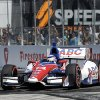 Photo - Takuma Sato, of Japan, leads during early laps of the IndyCar Grand Prix of St. Petersburg auto race, Sunday, March 30, 2014, in St. Petersburg, Fla. (AP Photo/Chris O'Meara)