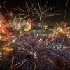 Fireworks light the sky opponents of Egypt\'s Islamist President Mohammed Morsi celebrate in Tahrir Square in Cairo, Egypt, Wednesday, July 3, 2013. A statement on the Egyptian president\'s office\'s Twitter account has quoted Mohammed Morsi as calling military measures