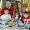Photo -  Chad and Sabrena  Goley with their children Chandler, 8, Peyton, 4, and Chase, 6, at their home in Edmond, Oklahoma November 5, 2009. Photo by Steve Gooch, The Oklahoman