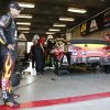 Photo - Driver Jeff Gordon waits for the start of practice for the Brickyard 400 Sprint Cup series auto race at the Indianapolis Motor Speedway in Indianapolis, Saturday, July 26, 2014. (AP Photo/R Brent Smith)