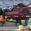 Photo - The GAINSCO Corvette DP is loaded on to a wrecker after driver Memo Gidley was involved in a crash during the IMSA Series Rolex 24 hour auto race at Daytona International Speedway in Daytona Beach, Fla., Saturday, Jan. 25, 2014. (AP Photo/John Raoux)