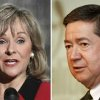 Photo - Rep. Mary Fallin and Attorney General Drew Edmondson. File photos.
