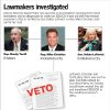 GRAPHIC: Lawmkers investigated: District Attorney David Prater has launched an investigation involving these three lawmakers and an alleged plan to creat an $80,000-a-year job with the medical examiner\'s office to be filled by Sen. Debbe Leftwich so Rep. Mike Christian could run for her seat. Leftwich, Christian and Terrill deny there was such a plan. Two bills vetoed by Gov. Brad Henry on Sunday would have created this job and transferred $90,000 to the medical examiner\'s office. WITH PHOTOS, FROM LEFT: 1) Oklahoma state Rep. Randy Terrill, R-Moore, asks a question during an Oklahoma House budget subcommittee meeting in Oklahoma City, Monday, April 26, 2010. (AP Photo/Sue Ogrocki) 2) Mike Christian, Republican candidate for House District 93 3) State Sen. Debbe Leftwich, D-Oklahoma City, speaks during debate on an override of an abortion bill on the Senate floor in Oklahoma City Tuesday, April 27, 2010. The Oklahoma Senate voted 36-12 to override Gov. Brad Henry\'s veto of two abortion bills. Photo by Paul B. Southerland, The Oklahoman