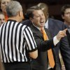 OSU head coach Travis Ford reacts after a call in the first half during the men\'s college basketball game between Nicholls State University and Oklahoma State University at Gallagher-Iba Arena in Stillwater, Okla., Saturday, Nov. 21, 2010. Photo by Nate Billings, The Oklahoman