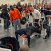 NFL scouts look on as Oklahoma State football players bench press 225 pounds during the NFL pro day at Oklahoma State University on Wednesday, March 9, 2011, in Stillwater, Okla. Photo by Chris Landsberger, The Oklahoman