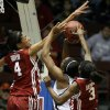 OU\'s Nicole Griffin (4) and Aaryn Ellenberg (3) defend Texas A&M\'s Adaora Elonu (21) during the women\'s college basketball Big 12 Championship tournament game between the University of Oklahoma and Texas A&M in Kansas City, Mo., Friday, March 11, 2011. Photo by Bryan Terry, The Oklahoman