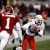 Jacob Lacey intercepts a Sam Bradford pass setting up an OSU score during the second half of the college football game between the University of Oklahoma Sooners (OU) and the Oklahoma State University Cowboys (OSU) at the Gaylord Family-Memorial Stadium on Saturday, Nov. 24, 2007, in Norman, Okla. Photo By STEVE SISNEY, The Oklahoman