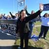 Nebraska\'s Republican candidate for US Senate Deb Fischer waves to motorists Tuesday Nov 6, 2012 in Omaha, Neb. Fischer is running against Bob Kerrey for the Senate seat held by Ben Nelson who is retiring.(AP Photo/Dave Weaver)