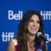 "Actress Sandra Bullock speaks during the press conference for ""Gravity"" at the 2013 Toronto International Film Festival in Toronto on Monday, Sept. 9, 2013. (AP Photo/The Canadian Press, Galit Rodan) ORG XMIT: GYR109"