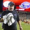 Photo -   TCU head coach Gary Patterson leaves the field after his team won an NCAA college football game over Texas 20-13 on Thursday, Nov. 22, 2012, in Austin, Texas.(AP Photo/Jack Plunkett)