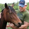 Catori, a mare, receives attention from veterinarian Shane Kimble in a pasture area at his clinic in Hinton, Okla, Wednesday, June1, 2011. The horse survived last week\'s tornado when it destroyed the home of Brian and Desiree Walling in Calumet. The couple lost 18 horses in the twister. Kimble is caring for Catori and a colt named Moonstruck as they recover from minor injuries received in the storm. Photo by Jim Beckel, The Oklahoman