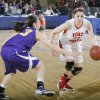 FORT GIBSON / CLASS 4A GIRLS HIGH SCHOOL BASKETBALL / STATE TOURNAMENT: Ft. Gibson\'s Savannah Gray (11) drives past Anadarko\'s Lakota Beatty (23) during the 4A girl State Basketball Championship game between Ft. Gibson High School and Anadarko High School at State Fair Arena on Saturday, March 10, 2012 in Oklahoma City, Okla. Photo by Chris Landsberger, The Oklahoman