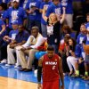 Miami\'s LeBron James (6) walks towards the bench during Game 1 of the NBA Finals between the Oklahoma City Thunder and the Miami Heat at Chesapeake Energy Arena in Oklahoma City, Tuesday, June 12, 2012. Photo by Nate Billings, The Oklahoman