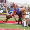CLASS 5A / CLASS 6A / HIGH SCHOOL TRACK AND FIELD / STATE TOURNAMENT: Durant\'s Shaina Crites clears the bar in the high jump event during the 5A and 6A state finals track meet at Yukon High School in Yukon, OK, Friday, May 11, 2012, By Paul Hellstern, The Oklahoman