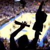 Wearing a foam finger and cheering from Loud City, Sabrina Darville, of Oklahoma City, celebrates a Thunder basket during the second half of game 7 of the NBA basketball Western Conference semifinals between the Memphis Grizzlies and the Oklahoma City Thunder at the OKC Arena in Oklahoma City, Sunday, May 15, 2011. Photo by John Clanton, The Oklahoman
