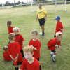 Gary Boreham instructs his class during the Edmond Soccer Club\'s camp for boys and girls in Edmond, OK, Monday, July 20, 2009. By Paul Hellstern, The Oklahoman
