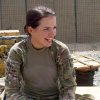 Spc. Alyssa Rainville of Ponca City, Okla., is a member of the Personal Security Detail to the commander of the 45th Infantry Brigade Combat Team currently deployed to Afghanistan. Photo provided.