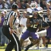 Oklahoma\'s Demontre Hurst (6) breaks up a pass intended for Josh Boyce (82) during the second half of the college football game where the University of Oklahoma Sooners (OU) defeated the Texas Christian University Horned Frogs (TCU) 24-17 at Amon G. Carter Stadium in Fort Worth, Texas, on Saturday, Dec. 1, 2012. Photo by Steve Sisney, The Oklahoman