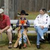 J.W. Struck, 7, sits between his father David Struck, left, and grandmother Ora Struck during Kingfisher\'s Living History Days at the Chisholm Trail Museum in Kingfisher, Okla., Saturday, April 14, 2012. Photo by Bryan Terry, The Oklahoman