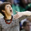 Photo - Notre Dame head coach Muffet McGraw reacts  Arizona State during the first half of the second-round game against Arizona in the NCAA women's college basketball tournament in Toledo, Ohio, Monday, March 24, 2014. (AP Photo/Rick Osentoski)
