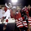 BEDLAM / CELEBRATE / CELEBRATION: OU\'s Ryan Broyles celebrates after the college football game between the University of Oklahoma Sooners (OU) and Oklahoma State University Cowboys (OSU) at Boone Pickens Stadium on Saturday, Nov. 29, 2008, in Stillwater, Okla. STAFF PHOTO BY BRYAN TERRY ORG XMIT: KOD