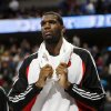Portland Trail Blazers center Greg Oden leaves the court as time runs out in the fourth quarter of the Denver Nuggets\' 97-89 victory over the Trail Blazers in an NBA basketball game in Denver on Monday, Dec. 22, 2008. Oden fouled out in the game. (AP Photo/David Zalubowski) ORG XMIT: CODZ125