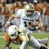 Photo -   Baylor quarterback Nick Florence (11) runs away from Texas linebacker Kendall Thompson (35) in the first quarter of an NCAA college football game on Saturday, Oct. 20, 2012, in Austin, Texas. (AP Photo/Michael Thomas)