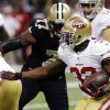 San Francisco 49ers running back Kendall Hunter (32) carries in the first half of an NFL football game against the New Orleans Saints in New Orleans, Sunday, Nov. 25, 2012. (AP Photo/Bill Haber)