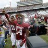 OU\'s Aaron Colvin (14) celebrates after the Red River Rivalry college football game between the University of Oklahoma (OU) and the University of Texas (UT) at the Cotton Bowl in Dallas, Saturday, Oct. 13, 2012. Oklahoma won 63-21. Photo by Bryan Terry, The Oklahoman