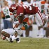 Oklahoma\'s Javon Harris (30) knocks a pass away from Florida A&M\'s Anthony Williams (11) during the college football game between the University of Oklahoma Sooners (OU) and Florida A&M Rattlers at Gaylord Family—Oklahoma Memorial Stadium in Norman, Okla., Saturday, Sept. 8, 2012. Photo by Bryan Terry, The Oklahoman