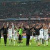 Photo - Real Madrid players celebrate after winning the Champions League semifinal second leg soccer match between Bayern Munich and Real Madrid at the Allianz Arena in Munich, southern Germany, Tuesday, April 29, 2014. (AP Photo/Kerstin Joensson)