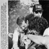 Oklahoma Highway Patrol Lt. Hoyt Hughes winces in pain while his wounds are bandaged after a shootout between officers and two Oklahoma State Penitentiary escapees in Caddo on May 26, 1978. Copy of an AP transmission from The Oklahoman Archive, Tuesday, Dec. 6, 2011.