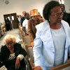 Marilyn Hildreth (right) and her mother Clara Luper join the audience as they listen to music from the choir during Freedom Fiesta\'s Celebration Week Doc Williams Day at Friendship Baptist Church in Oklahoma City on Sunday, August 17, 2008. By John Clanton, The Oklahoman ORG XMIT: KOD