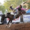 Cole Picton of Greentop, Missouri, competes in bareback bronc during the final go-round of the International Finals Youth Rodeo (IFYR) at the Heart of Oklahoma Expo Center in Shawnee, Okla., Friday, July 15, 2011. Photo by Nate Billings, The Oklahoman