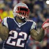 New England Patriots running back Stevan Ridley celebrates his touchdown during the second half of an AFC divisional NFL playoff football game against the Indianapolis Colts in Foxborough, Mass., Saturday, Jan. 11, 2014. (AP Photo/Matt Slocum)