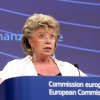 European Commissioner for Justice, Fundamental Rights and Citizenship Viviane Reding, addresses the media on how to amend proposals on market abuse, at the European Commission headquarters in Brussels, Wednesday, July 25, 2012. (AP Photo/Yves Logghe)