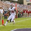 Oklahoma\'s Damien Williams (26) scores during a college football game between the University of Oklahoma Sooners (OU) and the Texas Christian University Horned Frogs (TCU) at Amon G. Carter Stadium in Fort Worth, Texas, Saturday, Dec. 1, 2012. Oklahoma won 24-17. Photo by Bryan Terry, The Oklahoman