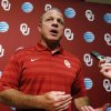 Director of Sports Enhancement Jerry Schmidt speaks with reporters during the University of Oklahoma (OU) football team\'s media day in the Adrian Peterson Team Meeting Room on Saturday, Aug. 2, 2014 in Norman, Okla. Photo by Steve Sisney, The Oklahoman