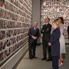 President Barack Obama and first lady Michelle Obama, along with former Secretary of State Hillary Rodham Clinton and former President Bill Clinton tour the Memorial Hall at the National September 11 Memorial Museum with former New York Mayor Michael Bloomberg, Thursday, May 15, 2014, in New York. (AP Photo/Carolyn Kaster)