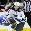 Photo - Minnesota Wild's Zach Parise skates in on a breakaway during the first period of an NHL hockey game against the New Jersey Devils, Thursday, March 20, 2014, in Newark, N.J. (AP Photo/Bill Kostroun)